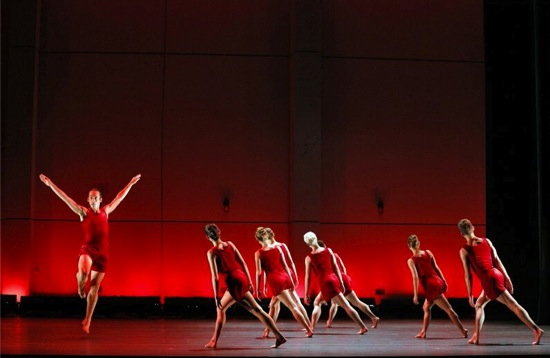 Stuart Dinger and members of Pam Tanowitz Dance in Broken Story (wherein there is no ecstacy). Photo: Cory Weaver