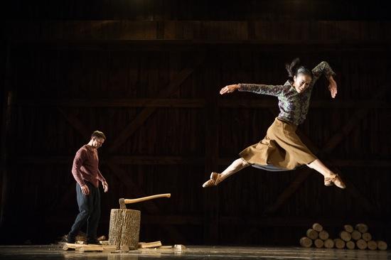 Ben Schultz and PeiJu Chien-Pott of the Martha Graham Dance Company in Mats Ek's Axe. Photo: Christopher Duggan