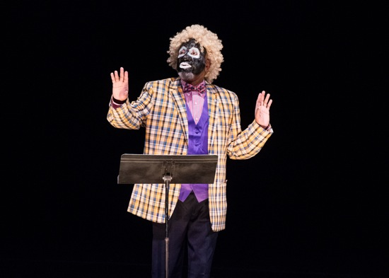 """Donald Byrd analyzes """"Old Mother Hubbard"""" in his The Minstrel Show Revisited. Photo: Ian Douglas"""