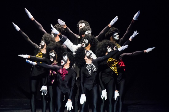 Cast members of Donald Byrd's The Minstrel Show Revisited. Photo: Ian Douglas