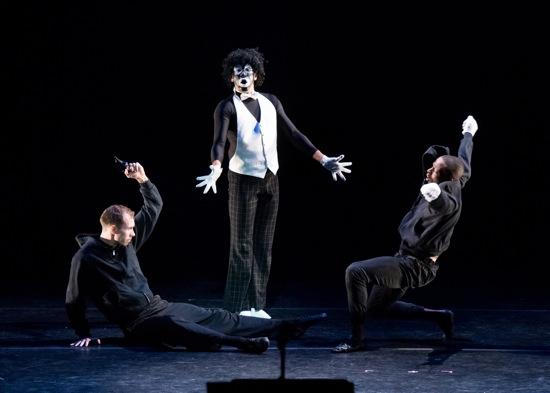 (L to R) Andrew Pontius, Alex Crozier, and Davione Gordon in The Minstrel Show Revisited. Photo: Ian Douglas