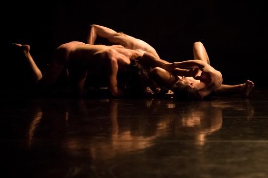 Nicholas Bruder, Emma Judkins, and Justin Morrison in Pavel Zuštiak's Custodians of Beauty. Photo: Ian Douglas