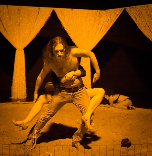 Charley Parden as Orestes copes wit his sister Elektra (Ann Liv Young). Yi-Chun Wu
