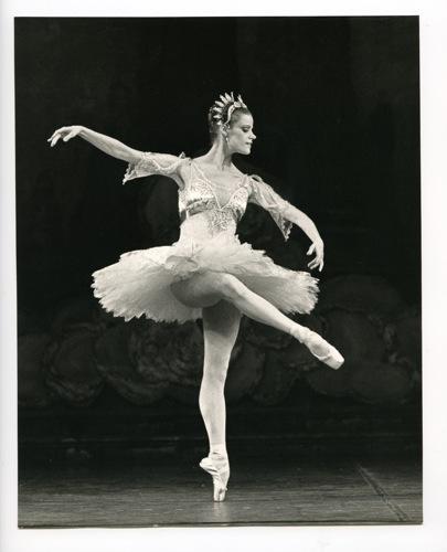Merrill Ashley, the heroine of Ron Steinman's The Dance Goodbye in her prime at New York City Ballet