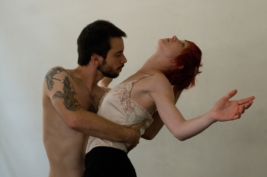 Gregg Mozgala and Emily Pope Blackman in Tamar Rogoff and Daisy Wright's film Enter the Faun.