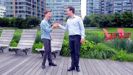 Danny Gardner (L) and Geoffrey Goldberg in Gardner's A Tap Dance in a Circle.
