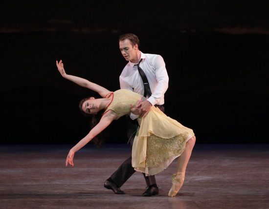 Tiler Peck yields to Tyler Angle in Christopher Wheeldon's Estancia. Photo: Paul Kolnik