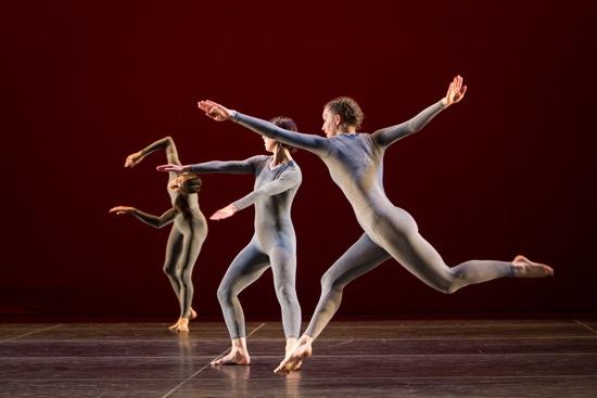 Jamie Scott (foreground) in a 2013 performance of Newark. Photo: Yi-Chun Wu