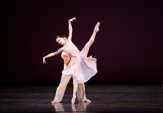 Tricia Albertson and Kleber Rebello in Alexei Ratmasky's Symphonic Dances. Photo: Sasha Iziaev