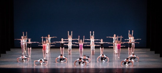 The final tableau of Balanchine's Symphony in Three Movements. Photo: Daniel Azoulay