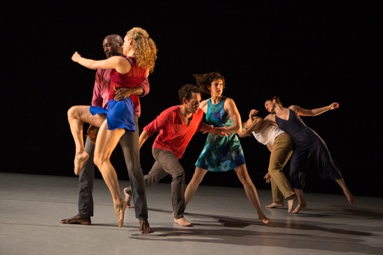 Jane Comfort's You Are Here. (L to R): Paul Hamilton and Petra van Noort, Darrin Wright, Gabrielle Revlock, Javier Perez, and Cori Marquis. Photo: Yi-Chun Wu