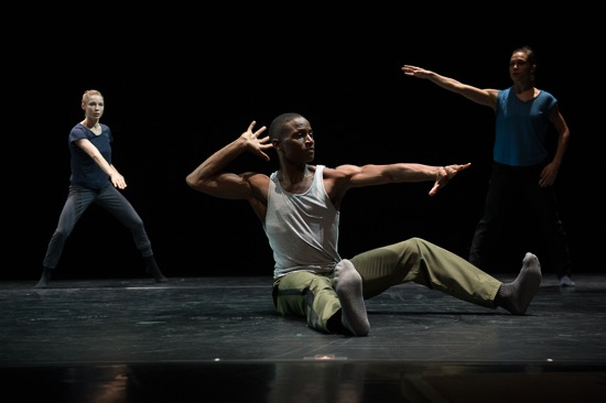 William Forsythe's N.N.N.N. (L to R): Emilie Leriche, Jeffery Duffy, and Jacqueline Burnett. Photo: Christopher Duggan