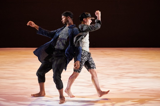 Kyle Marshall (L) and Robert Mark Burke of Ten Hairy Legs in Should We Go? Photo: Rachel Neville