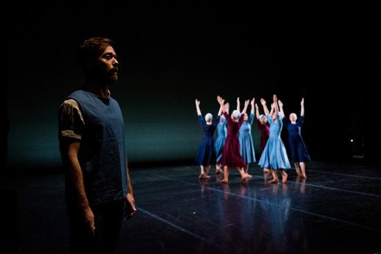 Singer Darren Chase and the women of Antony Tudor's Dark Elegies. Photo: Cherylynn Tsushima