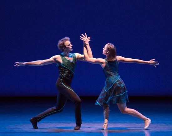 Russell Janzen and Emily Kikta in Peter Walker's ten in seven. ten in seven. Photo: Paul Kolnik