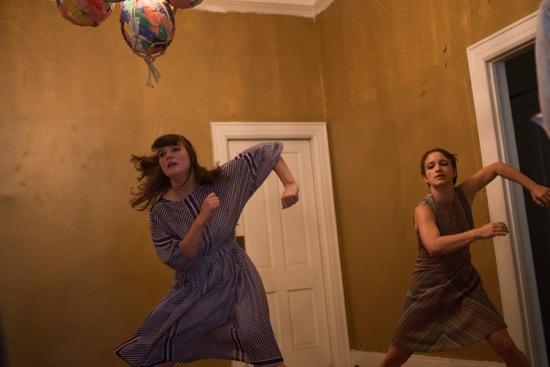 Saradiane (Sadi) Mosko (L) and Jessica Stroh in Welcome Home. Photo: Julia Discenza