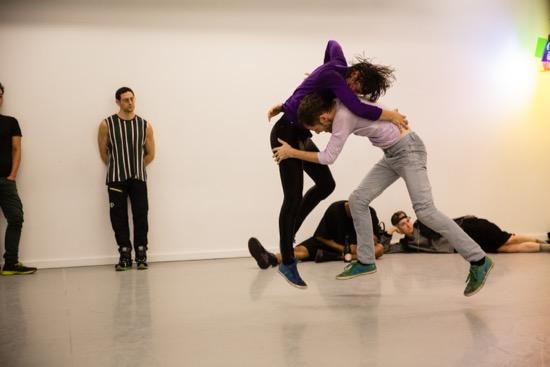 Shuli Enosh and Ofir Yudilevitch struggle in the second half of Yasmeen Godder's Climax. Photo: Scott Shaw
