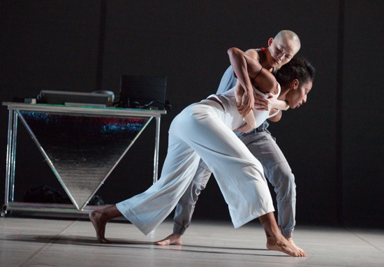 Rena Butler supported by I-Ling Liu in Bill T. Jones's Lance: Pretty aka The Escape Artist