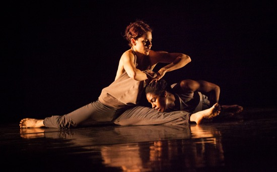 Nicole Diaz (L) and Kayla Farrish in Kate Weare's Marksman. Photo: Yi-Chun Wu