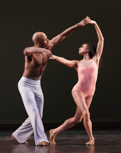 Glenn Allen Sims and Linda Celeste Sims in Christopher Wheeldon's After The Rain Pas de Deux. Photo: Paul Kolnick