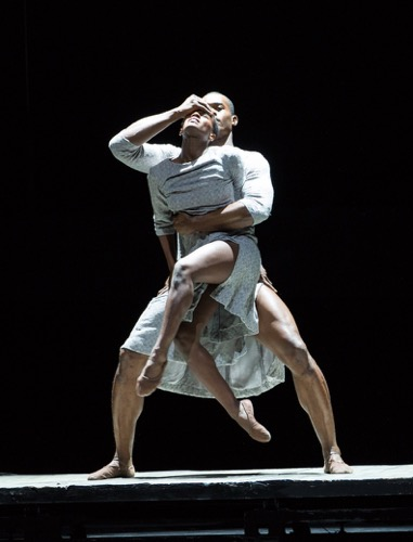 Jacquelin Harris and Jamar Roberts of the Alvin Ailey American Dance Company in Johann Inger's Walking Mad. Photo: Yi-Chun Wu