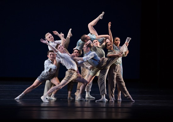 Juilliard's Class of 2017 assembles in Matthew Neenan's Walk Me Through. Photo: Rosalie O'Connor