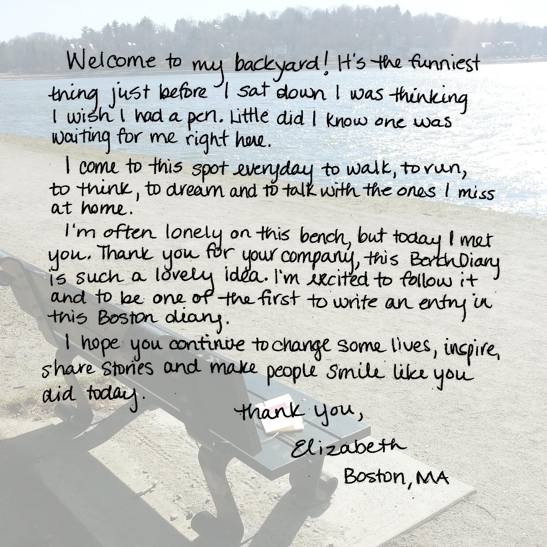 Dear, Bench Diary