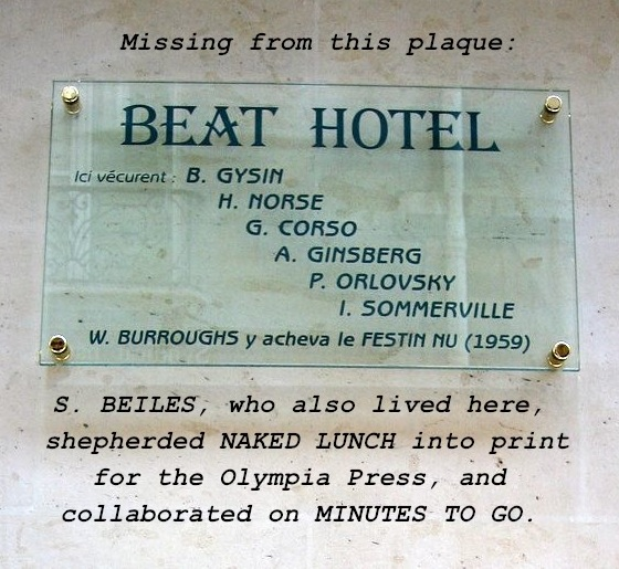 Beat Hotel plaque installed in 2009