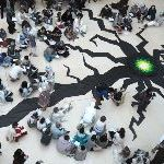 Activists Create Huge 'Crack' In The Floor Of The British Museum