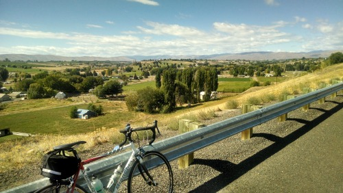 Bike & valley view