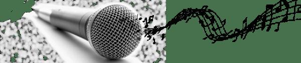 Singing mic logo