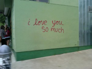 graffiti, South Congress Avenue in Austin (photo: T. Bale)