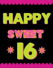 make sweet 16 party poster