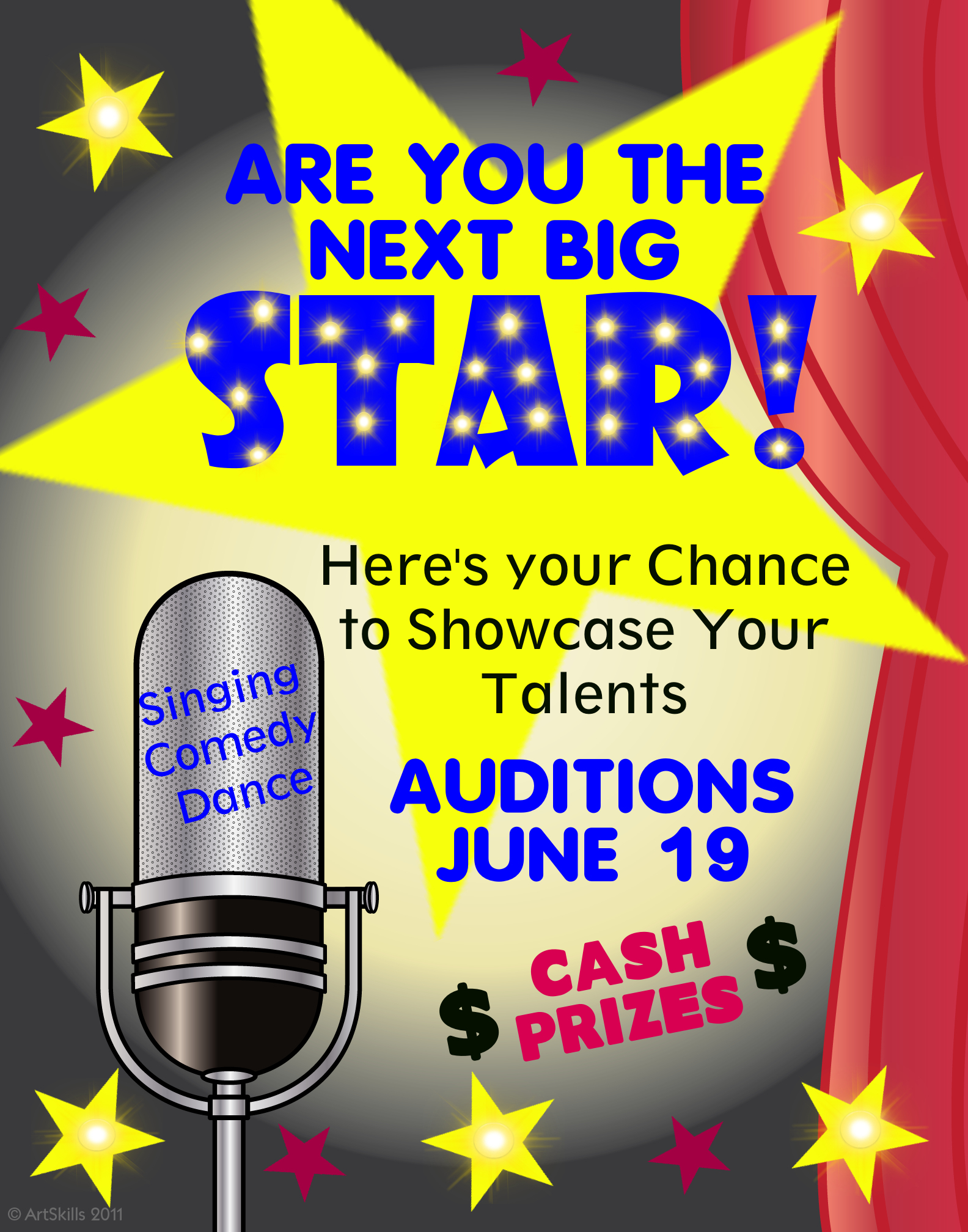Make A Talent Competition Poster Audition Poster Ideas