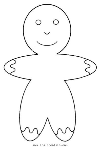 Christmas gingerbread man template