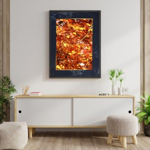 Tableau d'art Orange et Or
