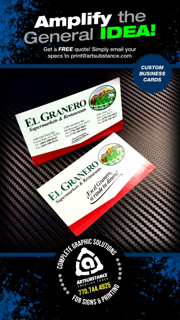 Custom Business Cards by Artsubstance