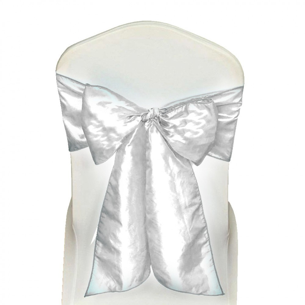 chair cushions with ties australia swing for your room 10 x white satin wedding sash 280x16cm tie bow