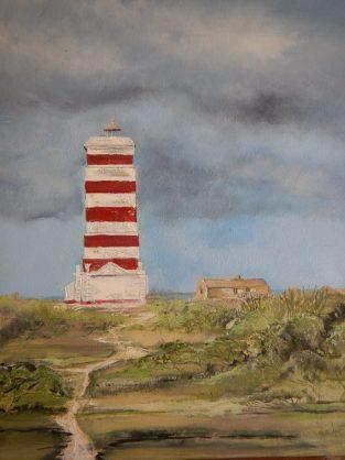 Ihha da Goa Lighthouse oilpainting