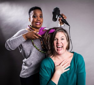 Tumi Morake and Vanessa Frost - Tease! Photo: Richard Aaron