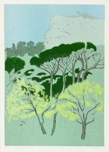 Alice Goldin - Looking At Signal Hill, edition 3 of 35, 1994. Screenprint.