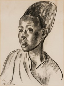 Lot 223 - Irma Stern, Watoussi Chief's Wife (with Head Dress), R200 000 – 300 000