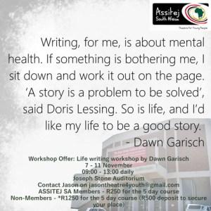 Writing workshop by Dawn Garisch at Joseph Stone