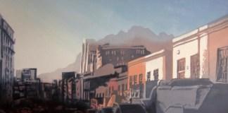Joshua Miles - Early Bo Kaap. Monoprint, R10 880