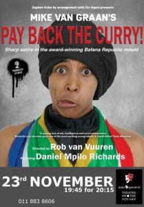 Pay Back The Curry will run at the Auto & General Theatre on the Square from 22 November to 15 December
