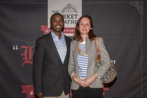 Kwanele Gumbi, the Chairperson of the Market Theatre Foundation with Marion Claudel, Cultural Attaché and Deputy Director of IFAS