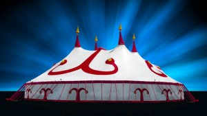 The Mighty Red and White Big Top