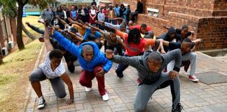FLASH MOB: Dancers from the My Body My Space Festival 2015