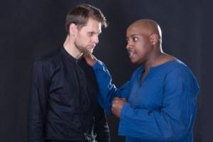 Chris Van Rensburg as Iago with Nhlakanipho Manqele as Othello