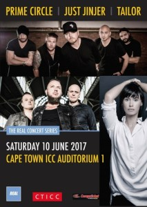 Prime Circle, Just Jinjer and Tailor are coming to the CTICC in June